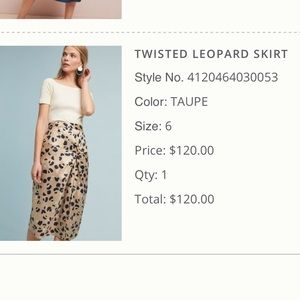 Twisted Leopard Print Skirt- Perfect Condition